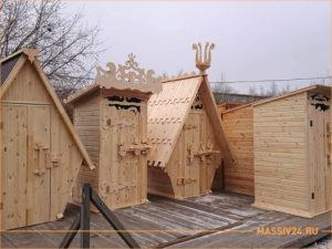 Каталог дачных туалетов из дерева